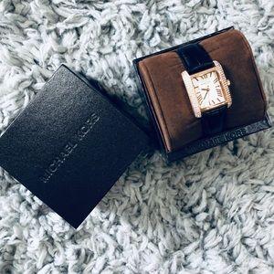 Michael Kors Black Croco Petite Emery Watch